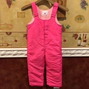 The Children's Place hot pink snow suit